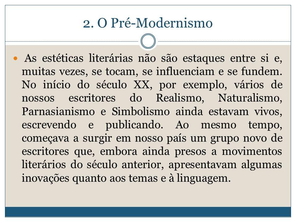 2. O Pré-Modernismo