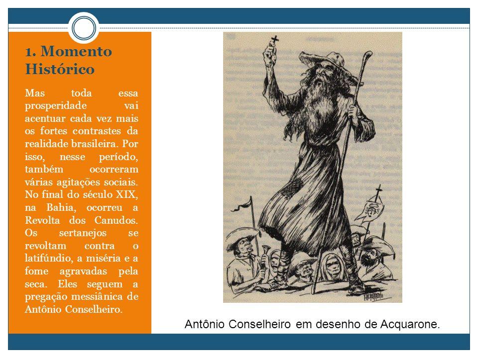 Antônio Conselheiro em desenho de Acquarone.