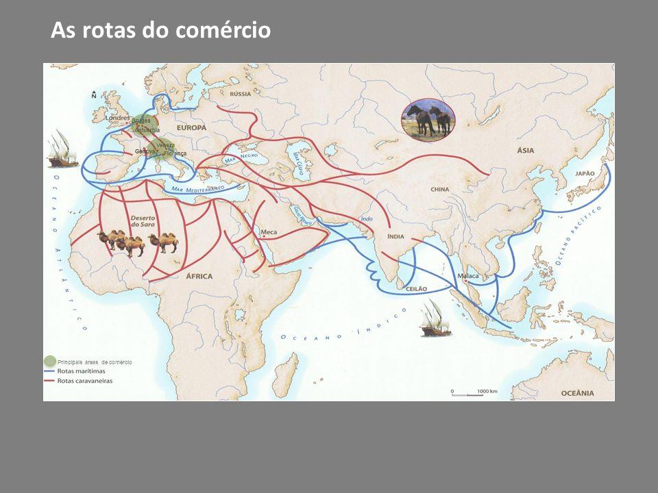 As rotas do comércio Principais áreas de comércio