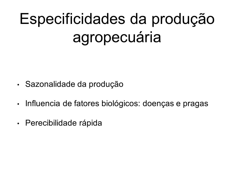 Especificidades da produção agropecuária