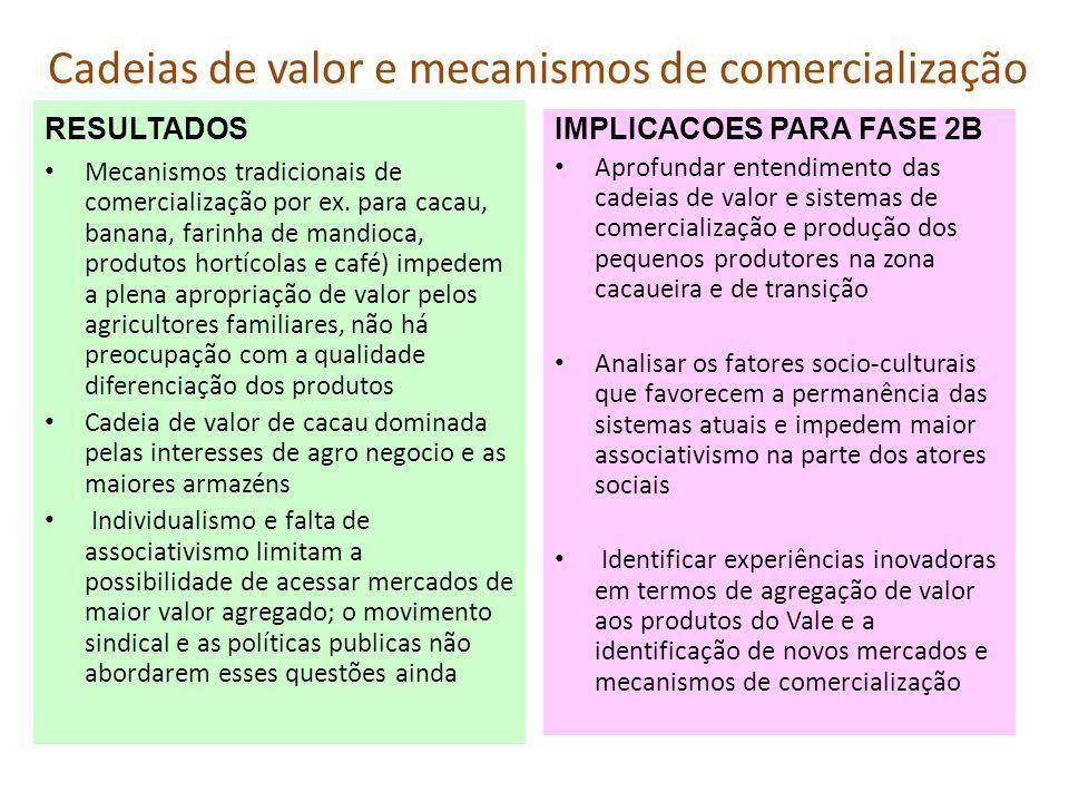 Cadeias de valor e mecanismos de comercialização
