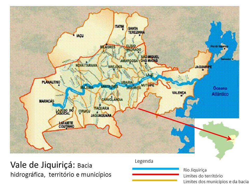 Vale de Jiquiriçá: Bacia hidrográfica, território e municípios