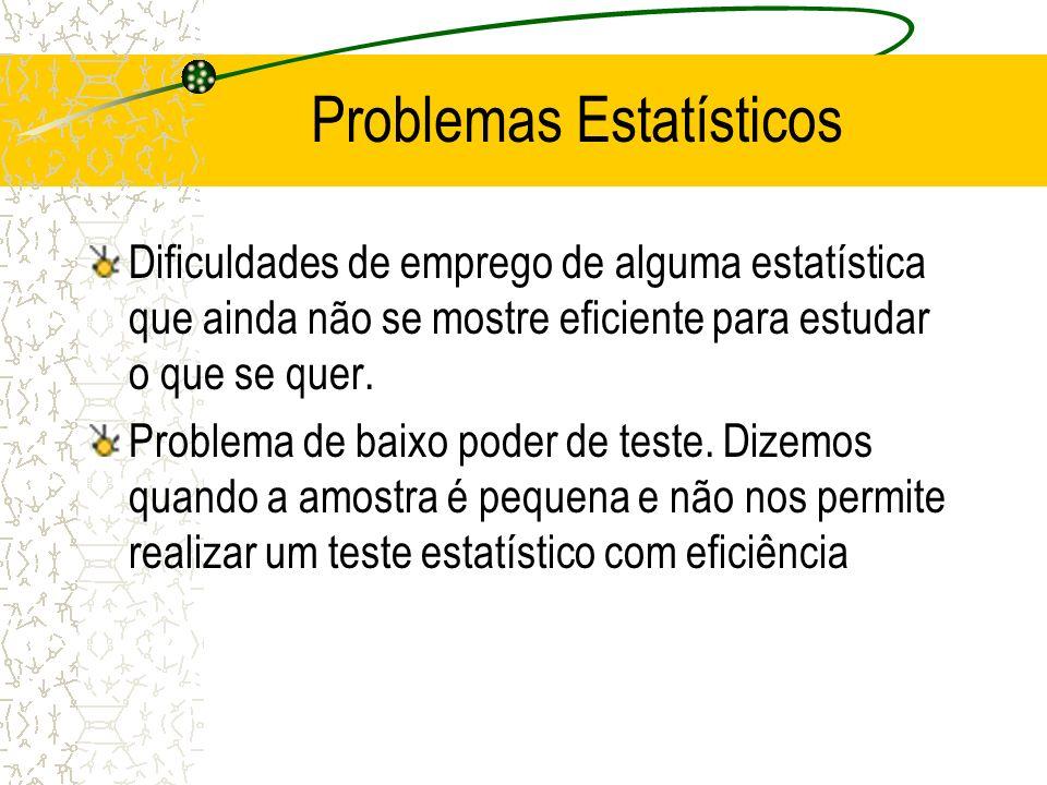 Problemas Estatísticos