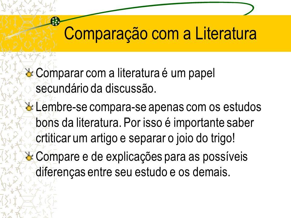 Comparação com a Literatura