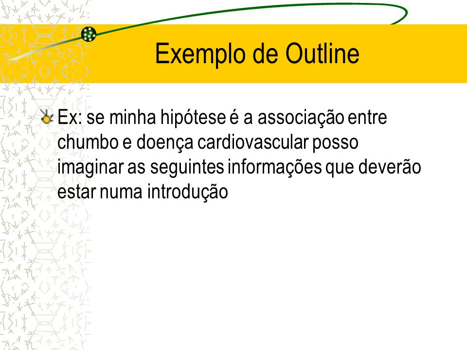 Exemplo de Outline