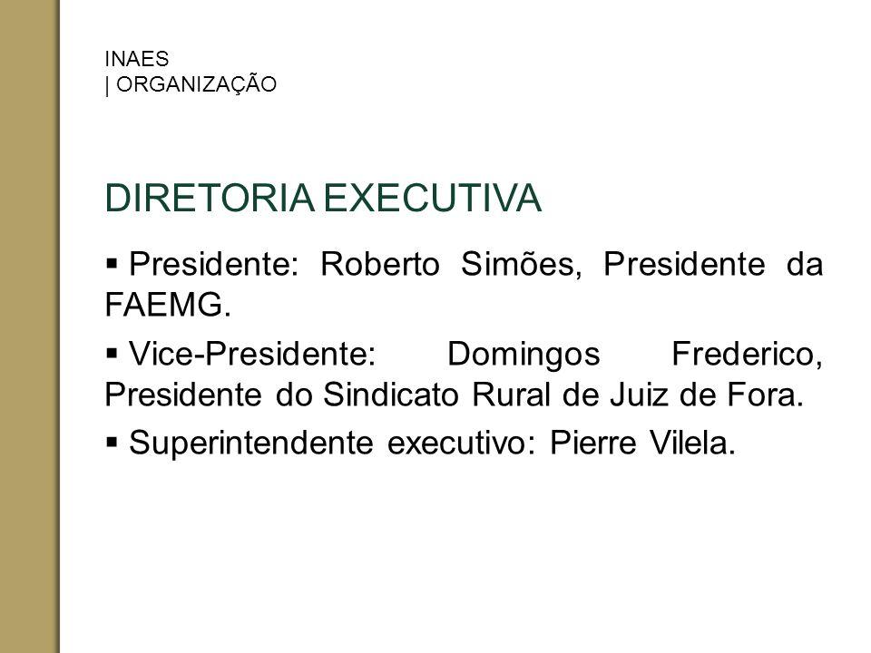 DIRETORIA EXECUTIVA Presidente: Roberto Simões, Presidente da FAEMG.