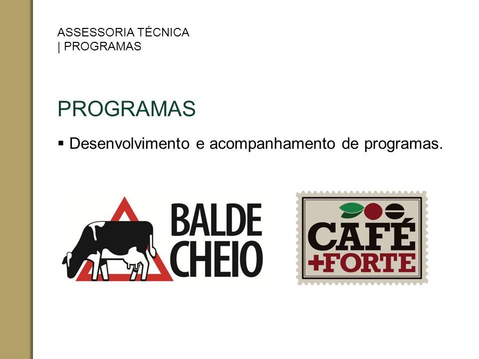 Desenvolvimento e acompanhamento de programas.
