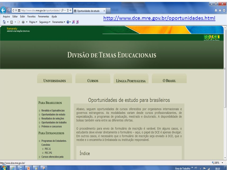 http://www.dce.mre.gov.br/oportunidades.html