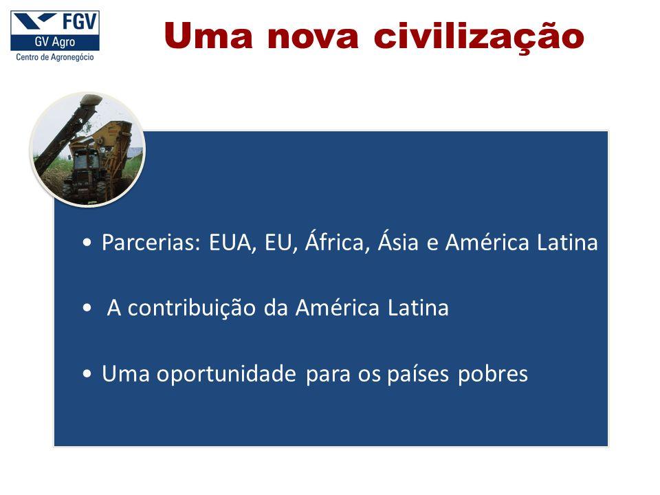 Uma nova civilização Parcerias: EUA, EU, África, Ásia e América Latina