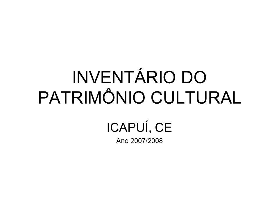 INVENTÁRIO DO PATRIMÔNIO CULTURAL