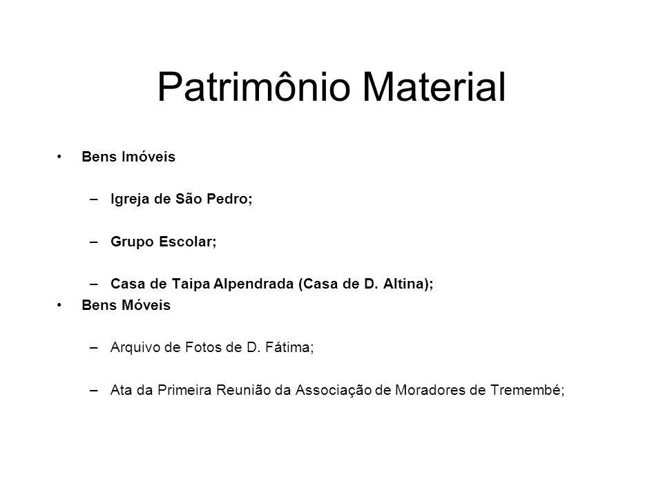 Patrimônio Material Bens Imóveis Igreja de São Pedro; Grupo Escolar;