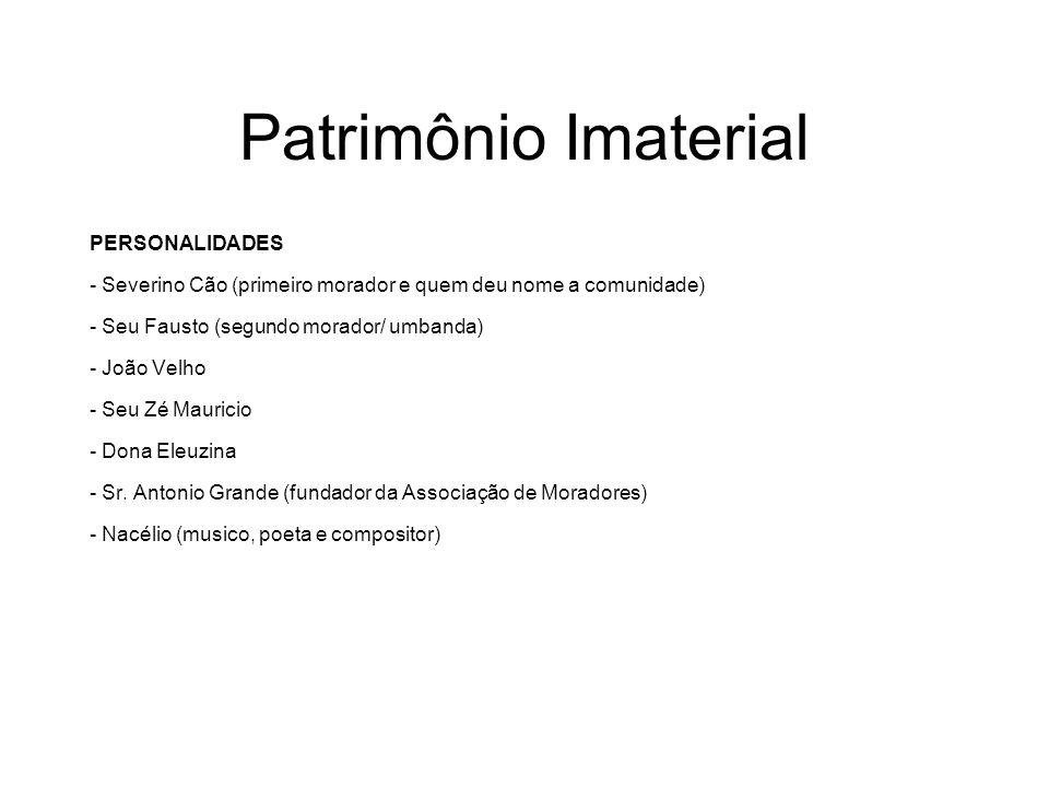 Patrimônio Imaterial PERSONALIDADES
