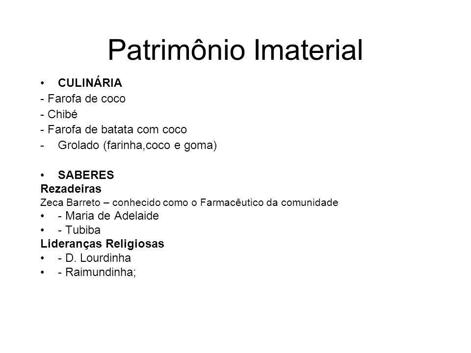 Patrimônio Imaterial CULINÁRIA - Farofa de coco - Chibé