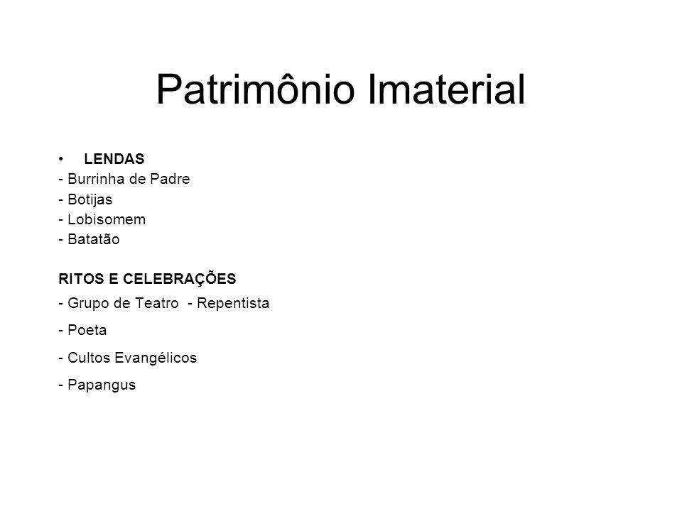 Patrimônio Imaterial LENDAS - Burrinha de Padre - Botijas - Lobisomem