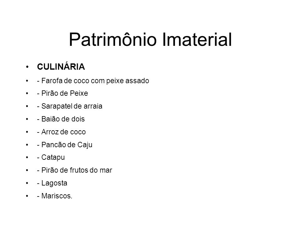 Patrimônio Imaterial CULINÁRIA - Farofa de coco com peixe assado