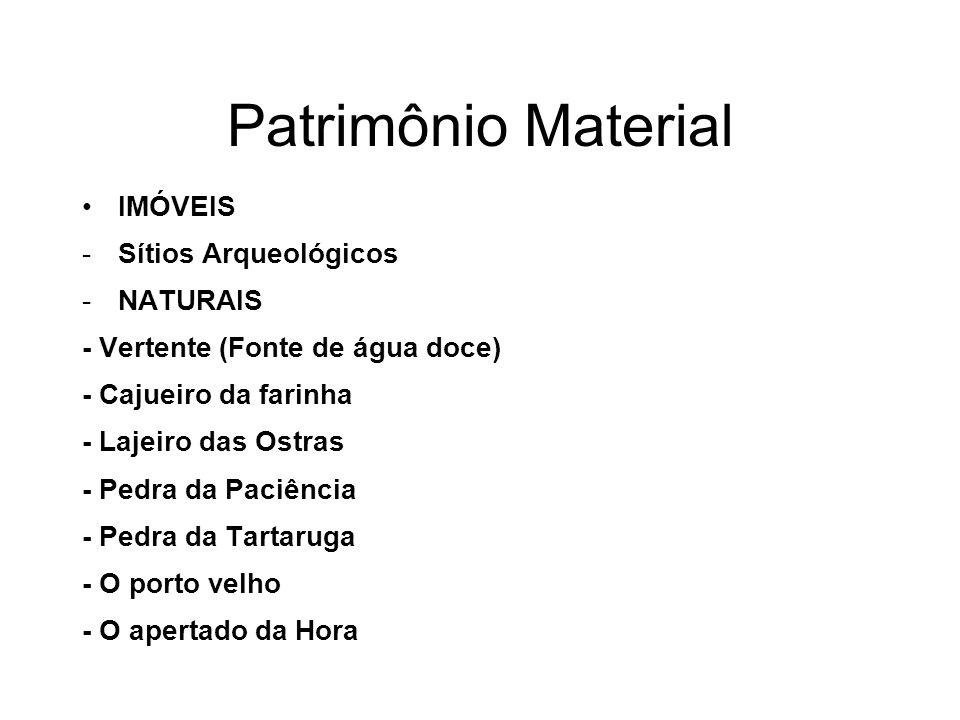 Patrimônio Material IMÓVEIS Sítios Arqueológicos NATURAIS