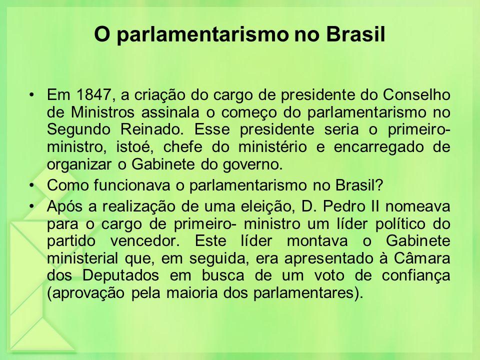 O parlamentarismo no Brasil