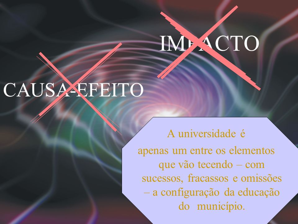 IMPACTO CAUSA-EFEITO A universidade é