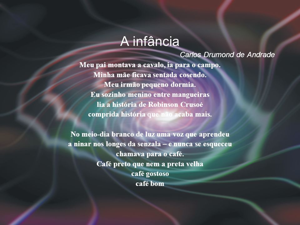 A infância Carlos Drumond de Andrade