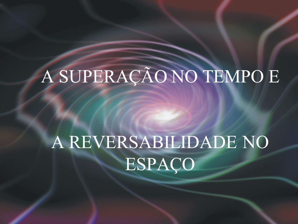 A SUPERAÇÃO NO TEMPO E A REVERSABILIDADE NO ESPAÇO