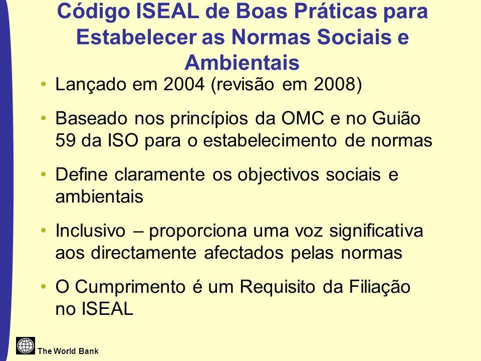 Código ISEAL de Boas Práticas para Estabelecer as Normas Sociais e Ambientais