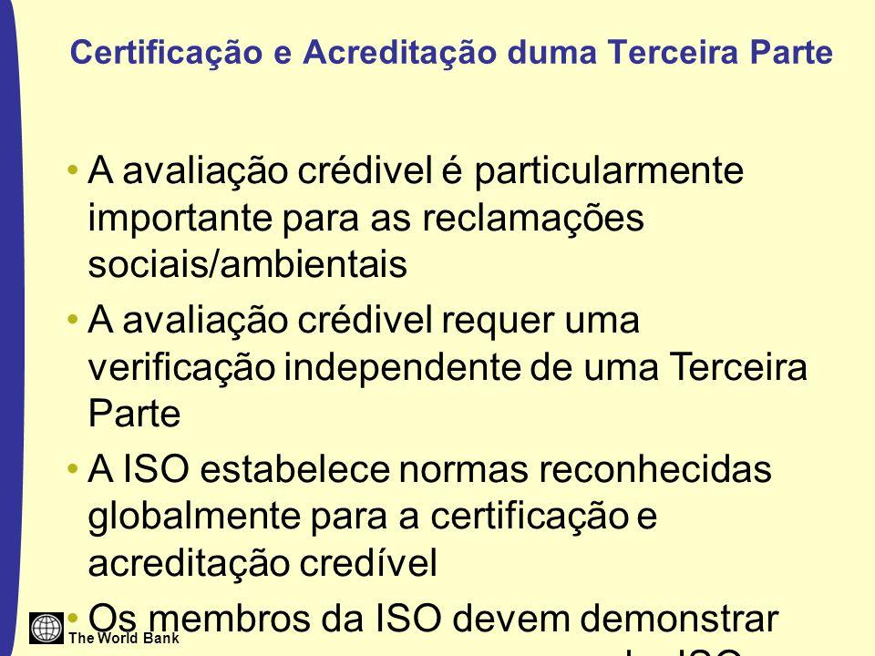 Certificação e Acreditação duma Terceira Parte