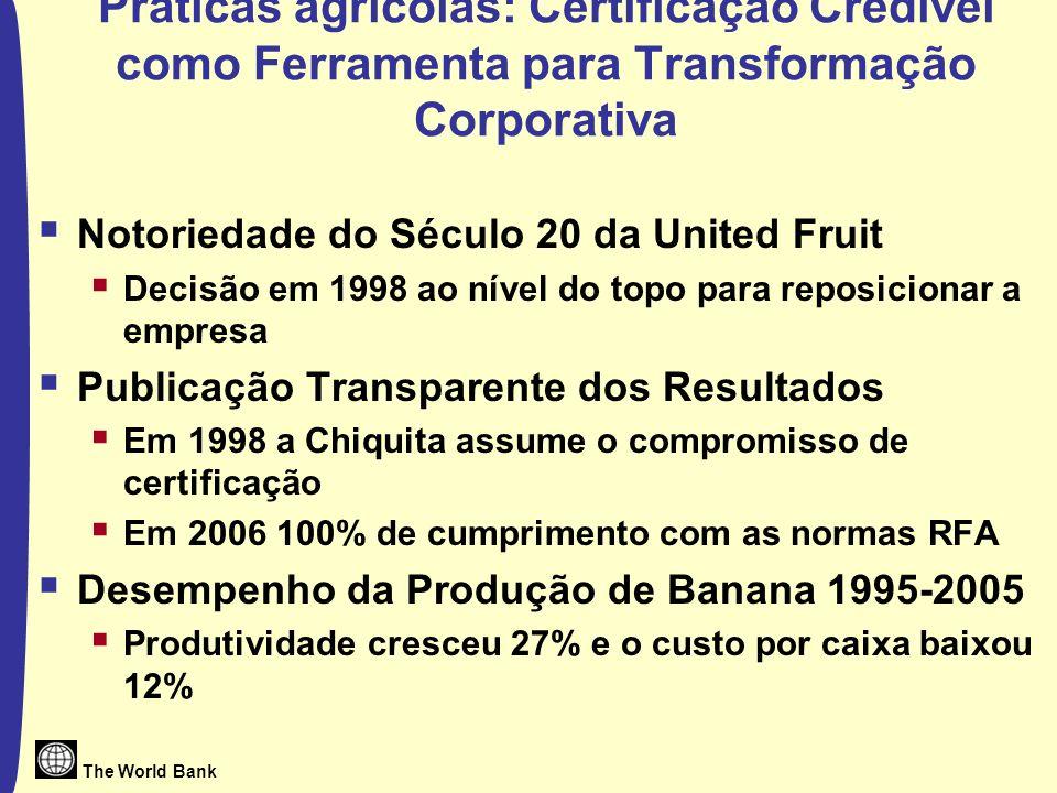 Práticas agrícolas: Certificação Credível como Ferramenta para Transformação Corporativa