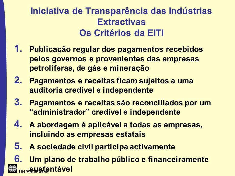Iniciativa de Transparência das Indústrias Extractivas Os Critérios da EITI