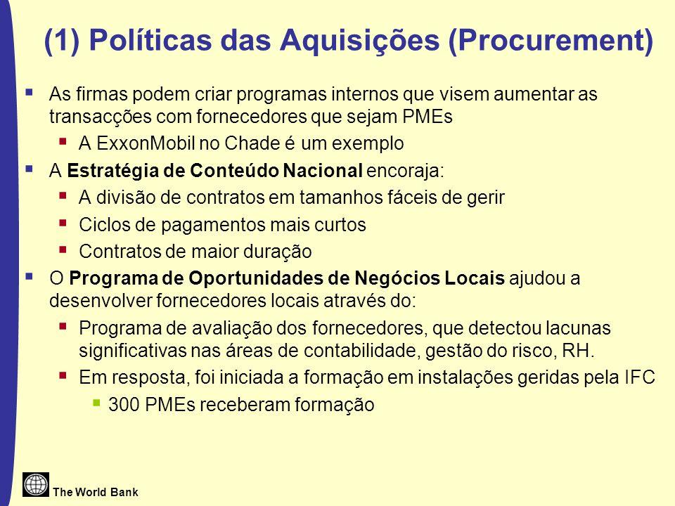 (1) Políticas das Aquisições (Procurement)