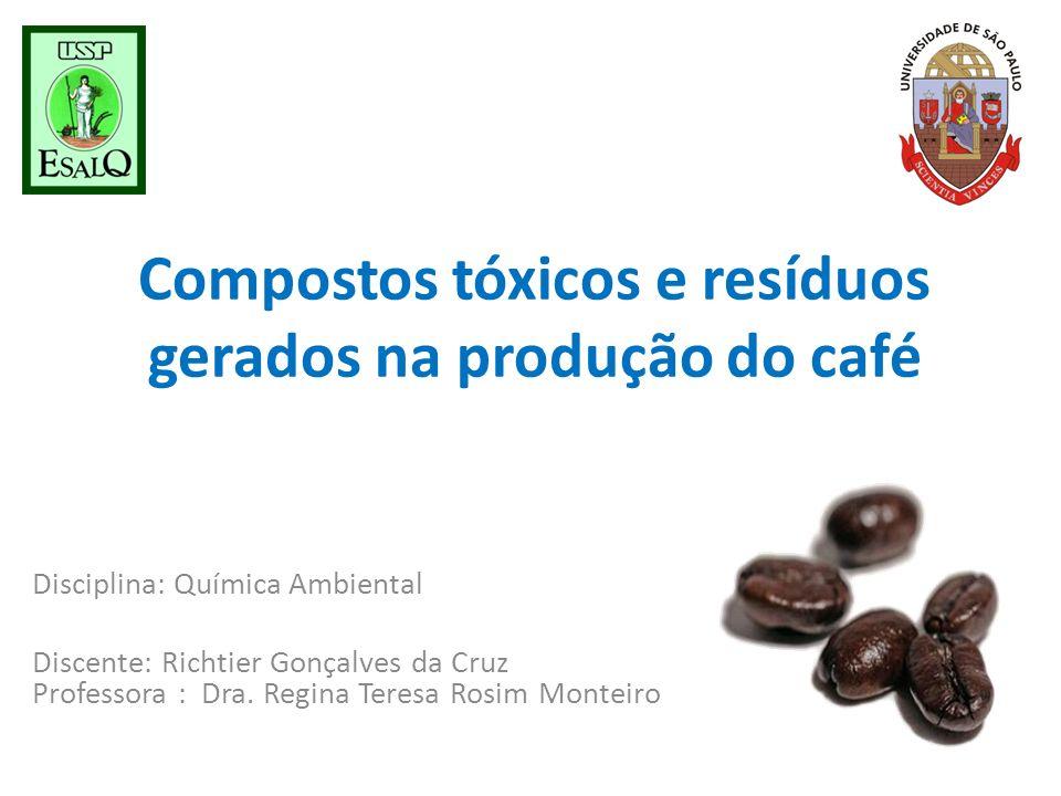 Compostos tóxicos e resíduos gerados na produção do café
