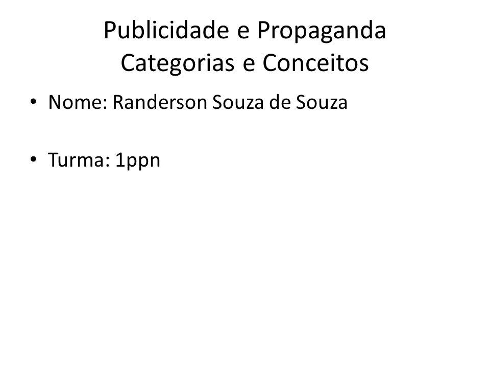 Publicidade e Propaganda Categorias e Conceitos
