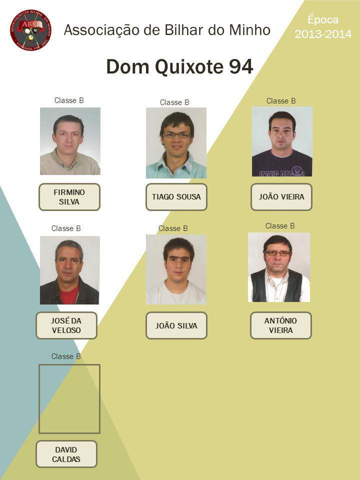 Dom Quixote 94 Associação de Bilhar do Minho Época 2013-2014 Classe B