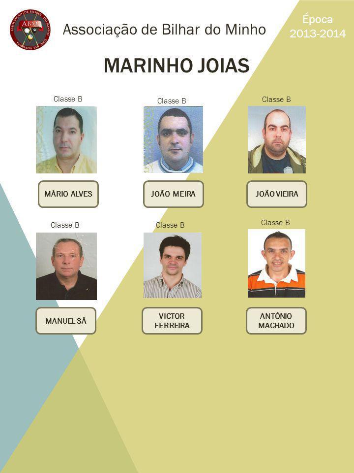 MARINHO JOIAS Associação de Bilhar do Minho Época 2013-2014 Classe B