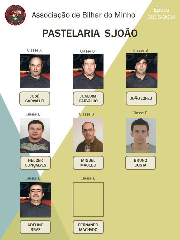 PASTELARIA S.JOÃO Associação de Bilhar do Minho Época 2013-2014