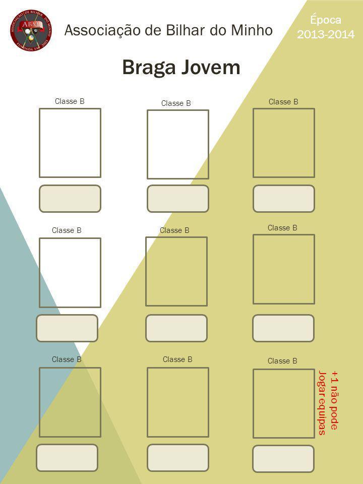 Braga Jovem Associação de Bilhar do Minho Época 2013-2014 +1 não pode