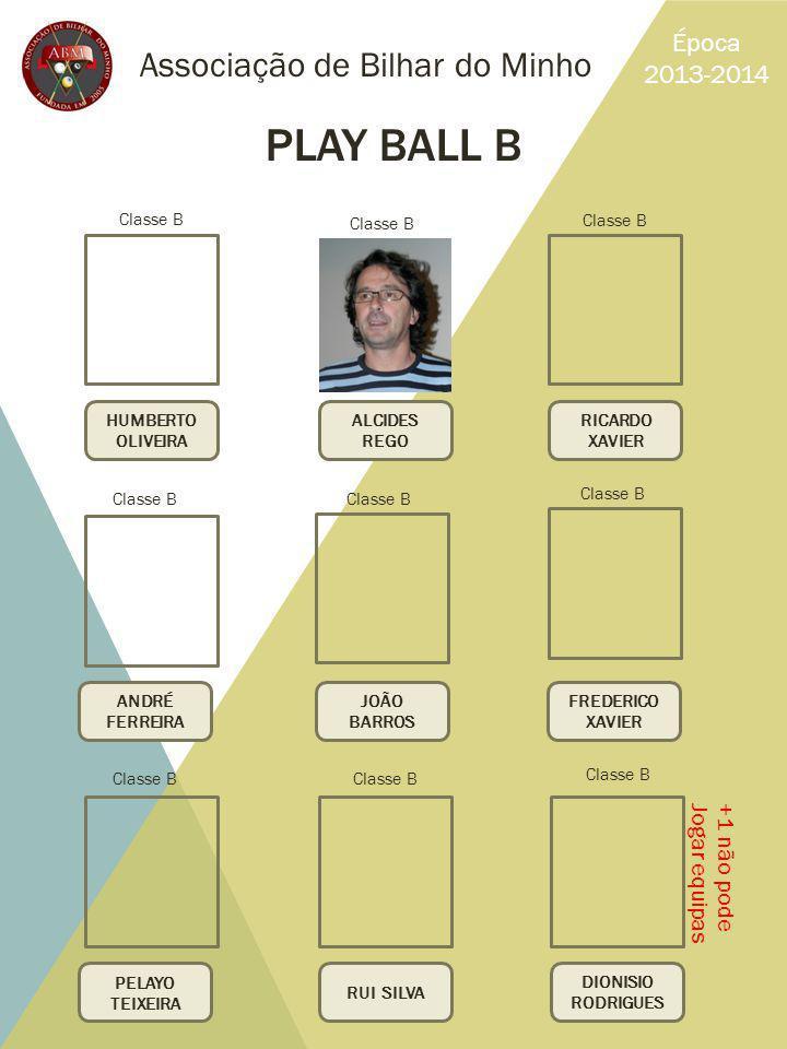 PLAY BALL B Associação de Bilhar do Minho Época 2013-2014 +1 não pode