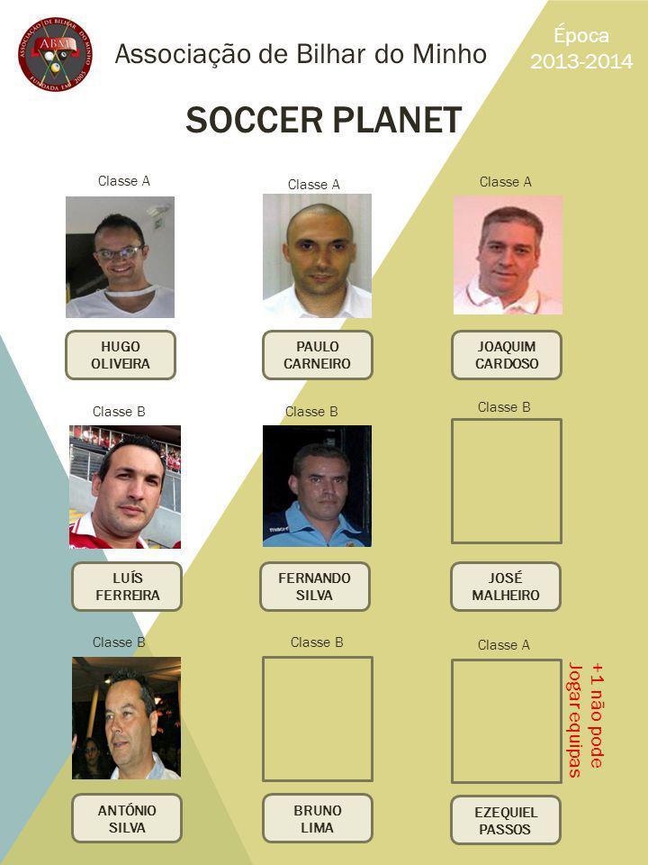 SOCCER PLANET Associação de Bilhar do Minho Época 2013-2014
