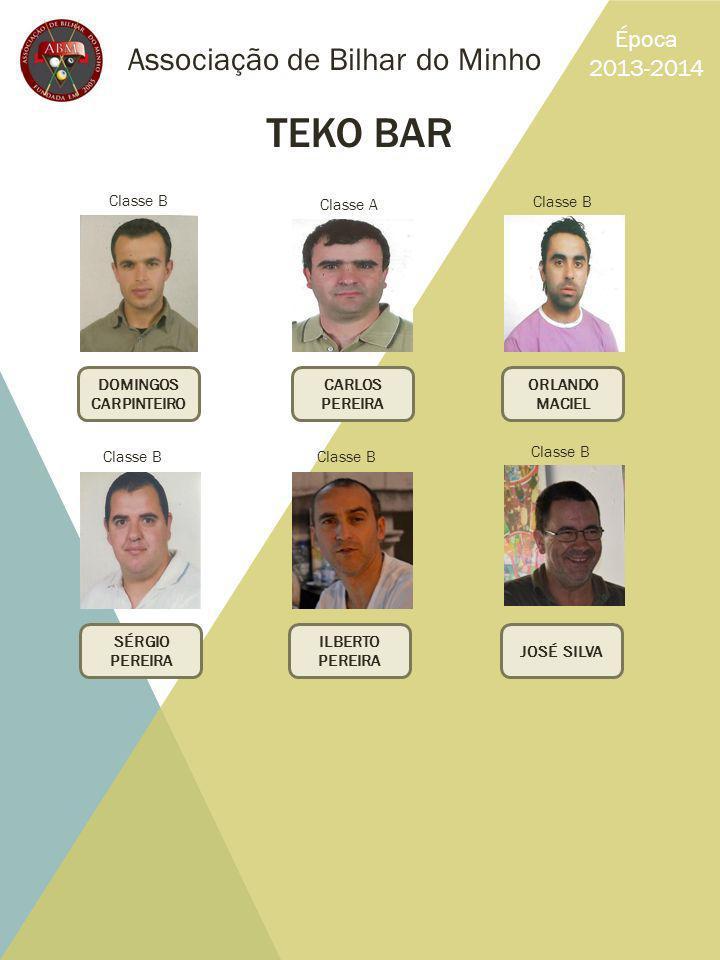 TEKO BAR Associação de Bilhar do Minho Época 2013-2014 Classe B