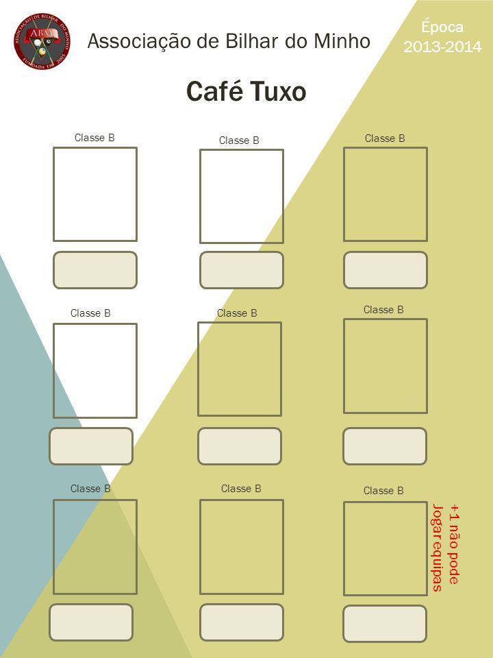 Café Tuxo Associação de Bilhar do Minho Época 2013-2014 +1 não pode