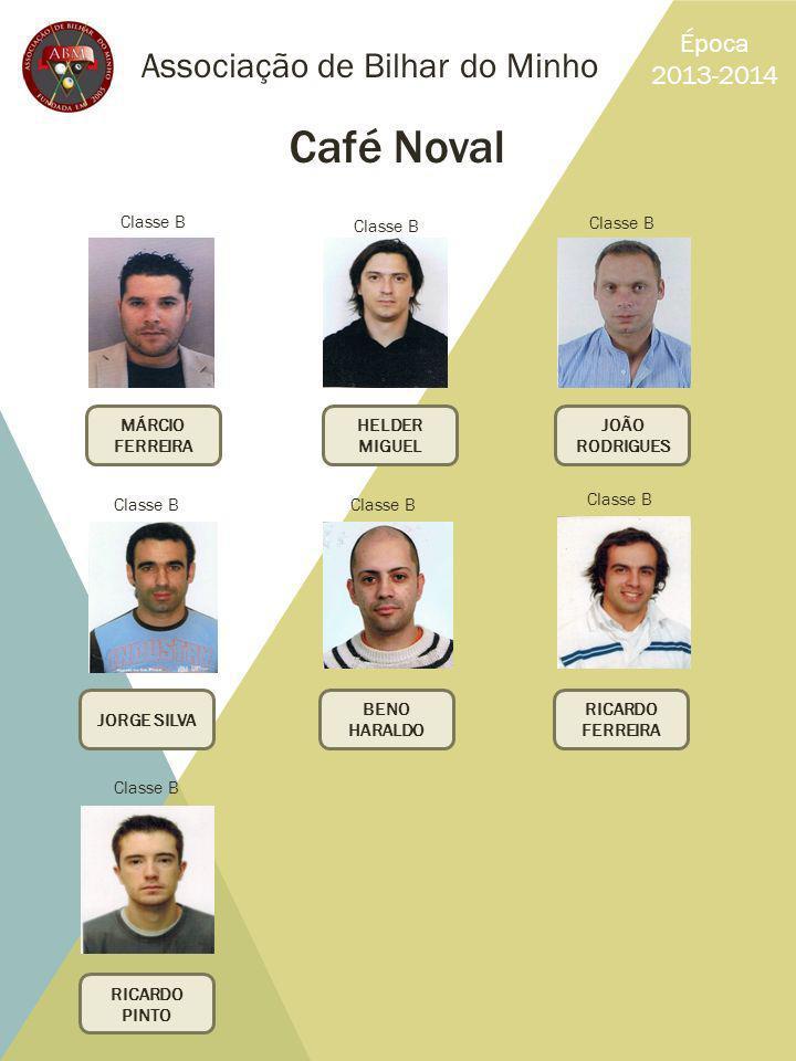 Café Noval Associação de Bilhar do Minho Época 2013-2014 Classe B