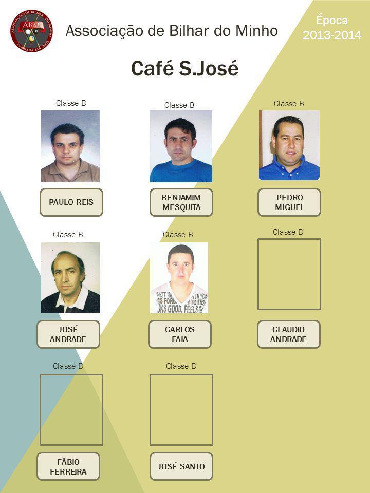 Café S.José Associação de Bilhar do Minho Época 2013-2014 Classe B
