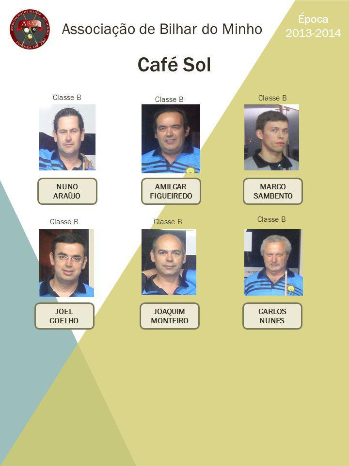 Café Sol Associação de Bilhar do Minho Época 2013-2014 Classe B