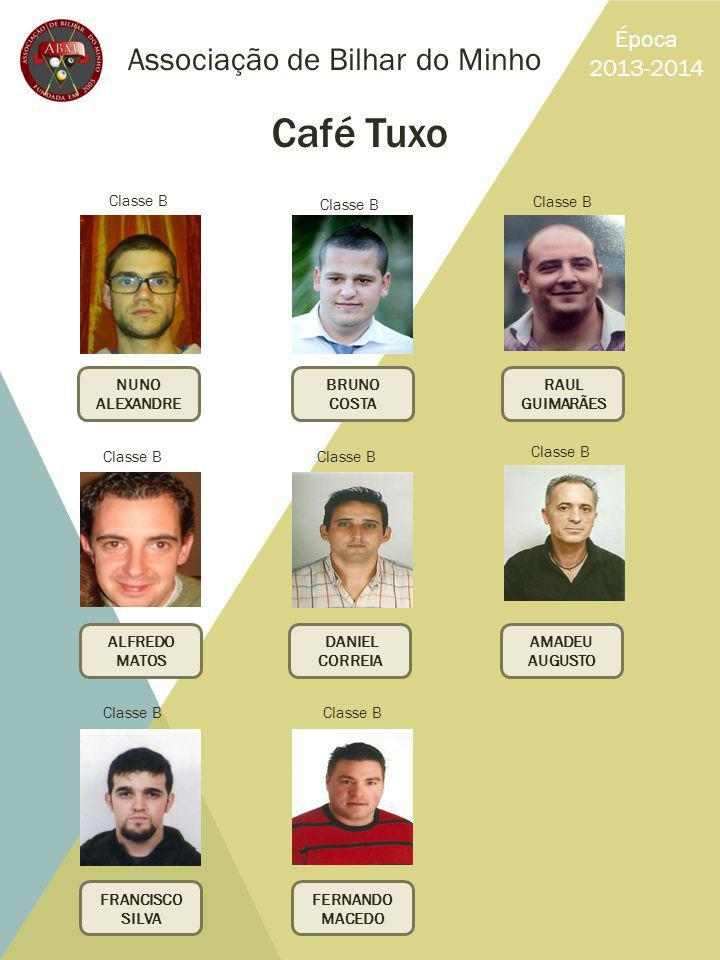 Café Tuxo Associação de Bilhar do Minho Época 2013-2014 Classe B