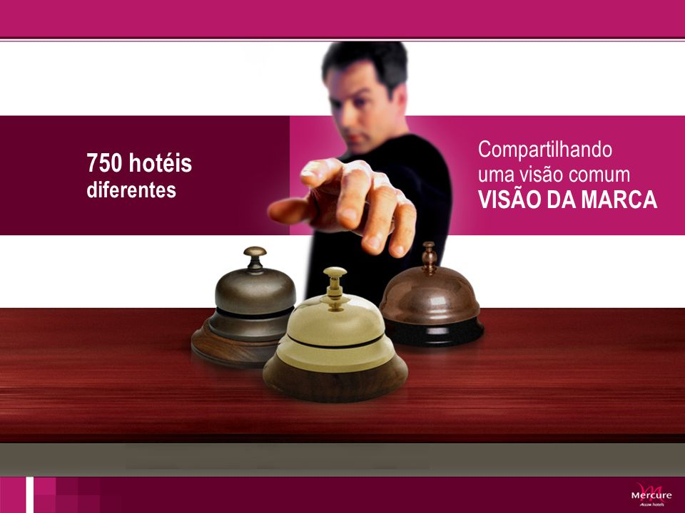 750 hotéis diferentes Compartilhando uma visão comum VISÃO DA MARCA