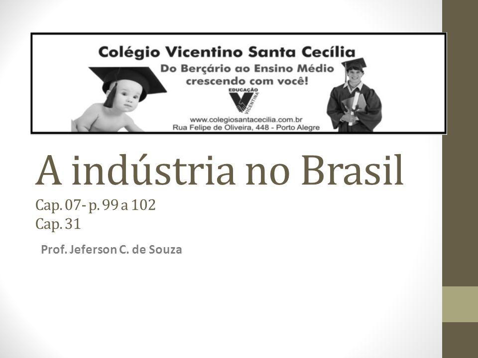 A indústria no Brasil Cap. 07- p. 99 a 102 Cap. 31