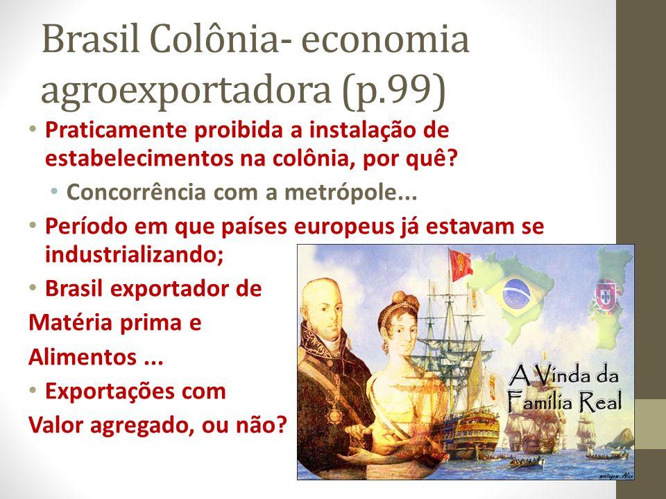 Brasil Colônia- economia agroexportadora (p.99)