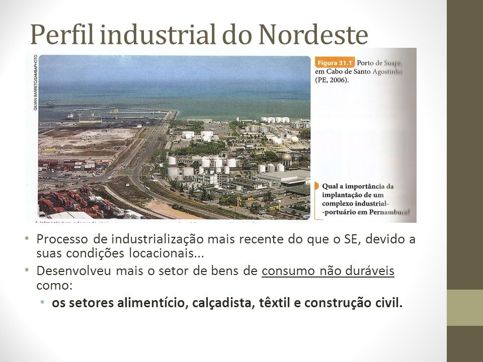 Perfil industrial do Nordeste