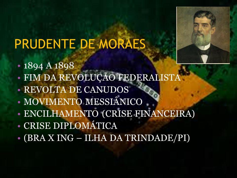 PRUDENTE DE MORAES 1894 A 1898 FIM DA REVOLUÇÃO FEDERALISTA