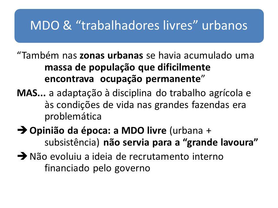 MDO & trabalhadores livres urbanos