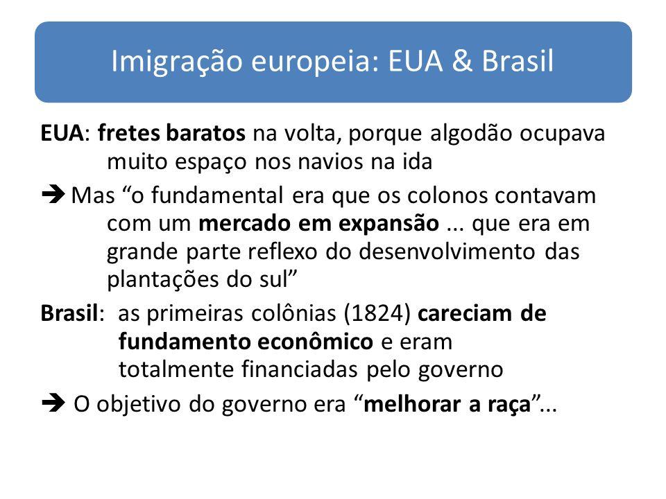 Imigração europeia: EUA & Brasil